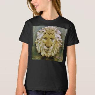 """Lenny the Lion"" Girl's Black Organic T-Shirt"