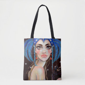 Lenore and the three eyed raven tote bag