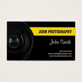 Lens and Yellow Belt Photography business card