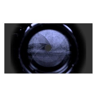 lens aperture blades business card