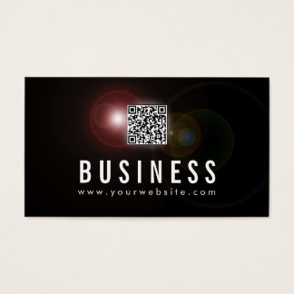 Lens Flare Cosmetologist Business Card