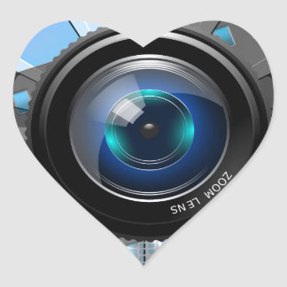 Lens Heart Sticker