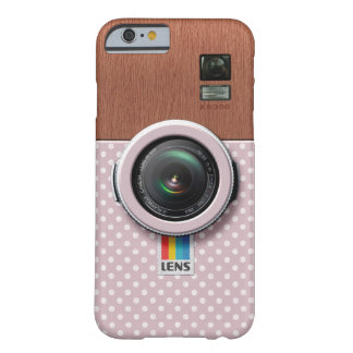 Lens KW300 - Wooden Kawaii Pink Vintage Camera Barely There iPhone 6 Case