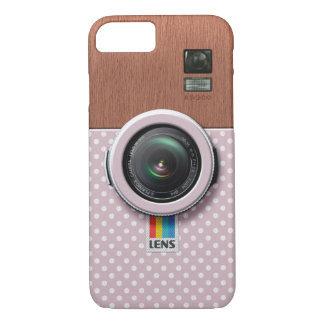 Lens KW300 - Wooden Kawaii Pink Vintage Camera iPhone 7 Case