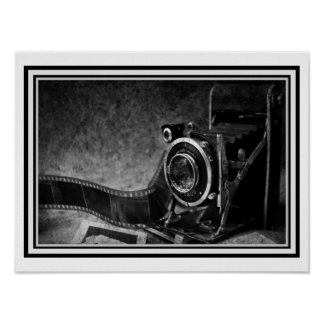 Lens of Life  B & W Photo Poster 12 x 16