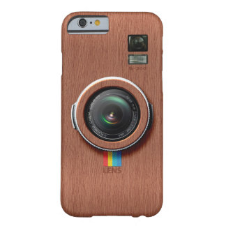 Lens W300 - Wooden Vintage Camera Barely There iPhone 6 Case