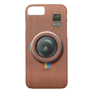 Lens W300 - Wooden Vintage Camera iPhone 7 Case