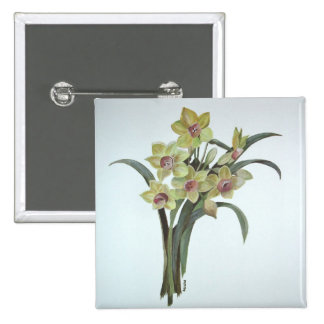 Lent Lily 15 Cm Square Badge