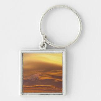 Lenticular cloud at sunset keychain