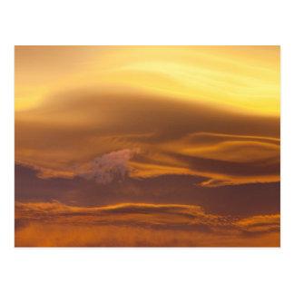 Lenticular cloud at sunset postcard