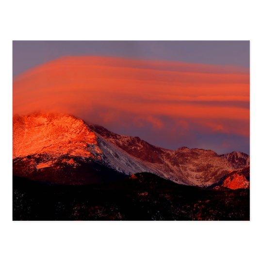 Lenticular Cloud over Pikes Peak Postcard