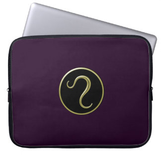 Leo Astrological Symbol Laptop Sleeve