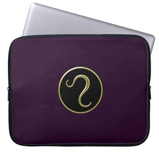 Leo Astrological Symbol Laptop Sleeve