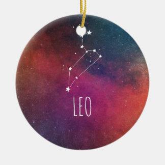 Leo Astrology Round Ceramic Decoration