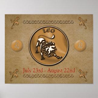Leo - astrology sign -- art print