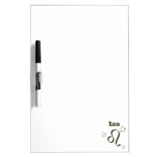 Leo chrome symbol dry erase board