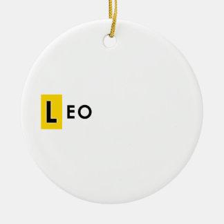 LEO COLOR ROUND CERAMIC DECORATION