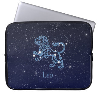 Leo Constellation and Zodiac Sign with Stars Laptop Sleeve