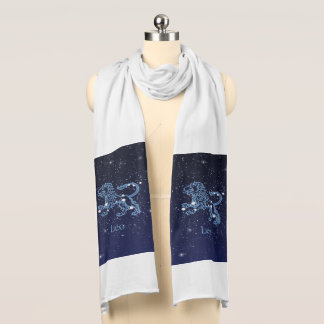 Leo Constellation and Zodiac Sign with Stars Scarf