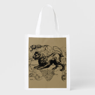 Leo Constellation Hevelius 1690 July 23  August 22 Reusable Grocery Bag