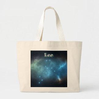 Leo constellation large tote bag