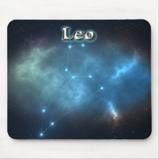 Leo constellation mouse pad