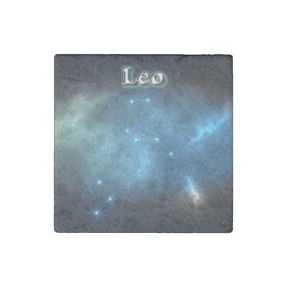Leo constellation stone magnet