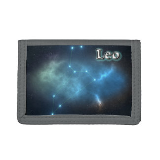 Leo constellation trifold wallets