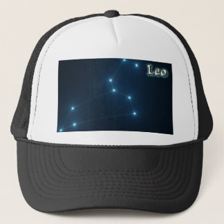 Leo constellation trucker hat