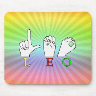 LEO FINGERSPELLED ASL NAME SIGN MOUSE PAD