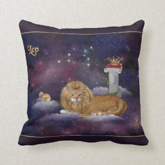 Leo for Cat Lovers Cushion