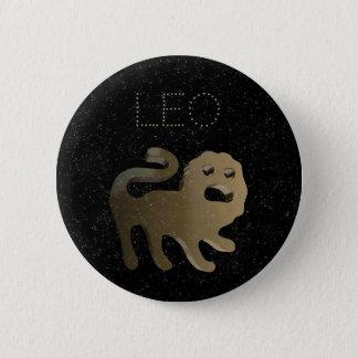 Leo golden sign 6 cm round badge