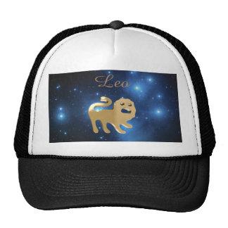 Leo golden sign cap