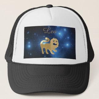 Leo golden sign trucker hat