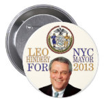 Leo Hindery for NYC Mayor in 2013 Button