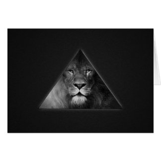 Leo Horoscope Lion Illustration Black and White Card