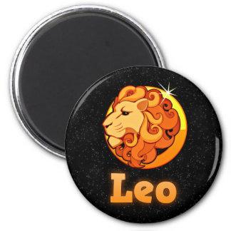 Leo illustration magnet