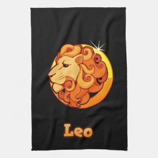 Leo illustration tea towel
