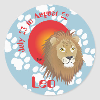 Leo July 23 tons of August 22 Stickers