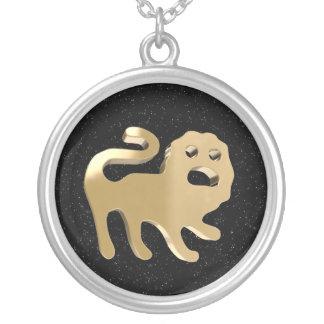 Leo, Leone Round Pendant Necklace