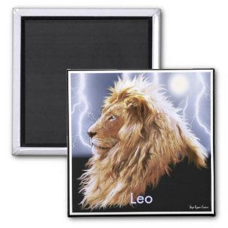 """""""LEO"""" Lion Astrology Art Magnet"""