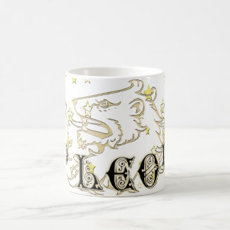 Leo Lion Astrology Sign With Stars Coffee Mug