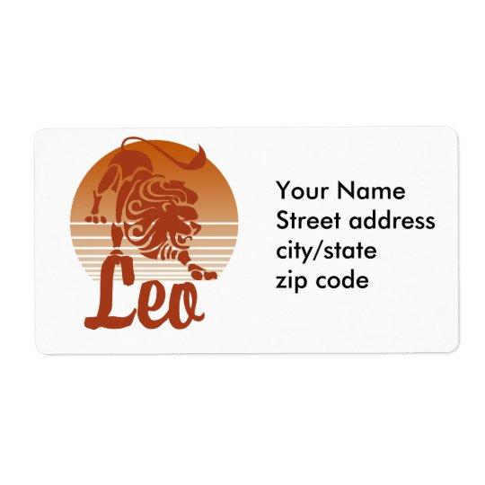 Leo Lion Zodiac Shipping Label