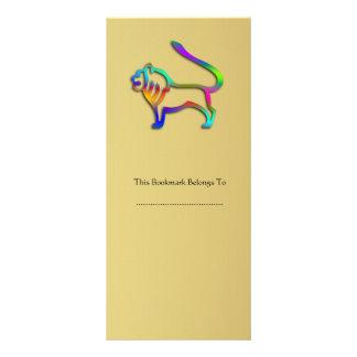 Leo Lion Zodiac Star Sign Rainbow Color Rack Card Design
