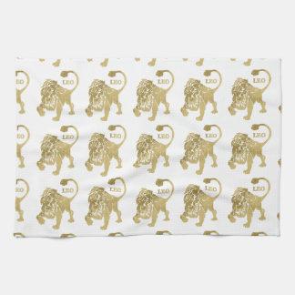 Leo Lion Zodiac Tea Towel