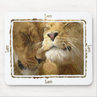 Leo - Lions in Colored Pencil Mousepad