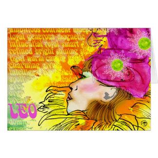 Leo notecards card