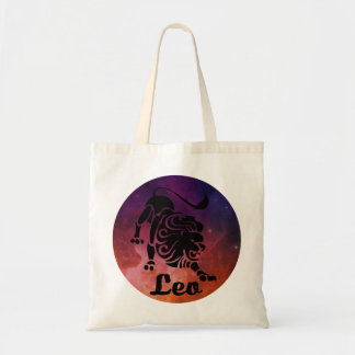 Leo On Space Background Tote Bag
