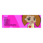Leo Profile Card Pack Of Skinny Business Cards
