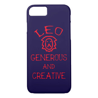 Leo (Red Text) iPhone 8/7 Case